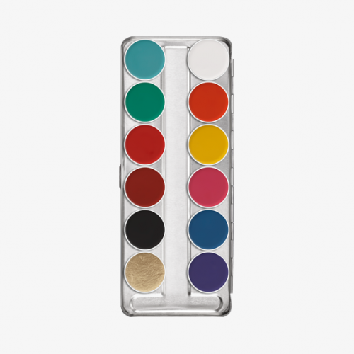 Kryolan Aquacolor 12 Colour Palette -  FP