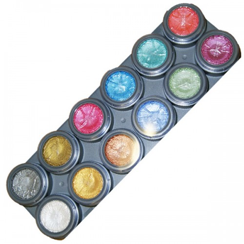 Grimas 12 Colour Water Paint Palette Pearl - P