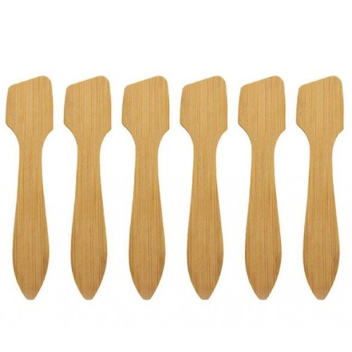 Mini Bamboo Spoon Spatulas, pack of 25