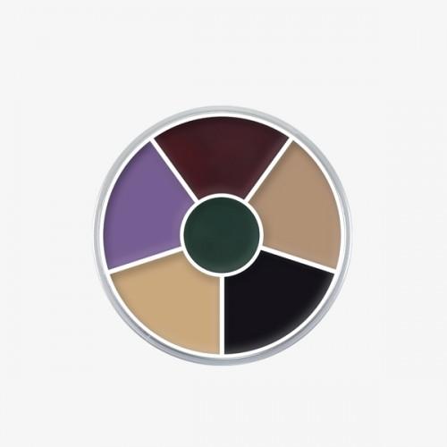 Kryolan 6 Colour Black Eye Wheel