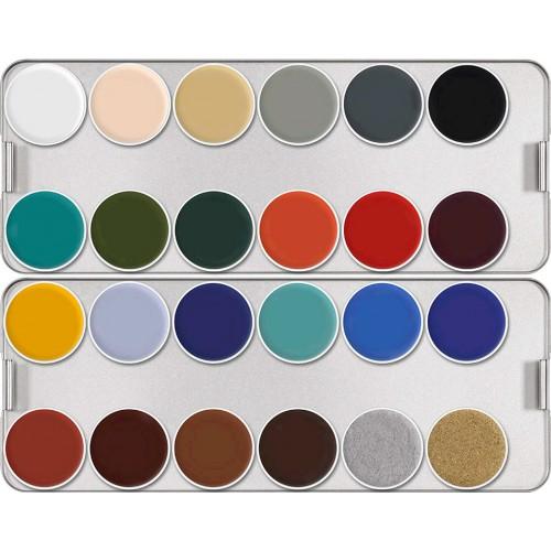 Kryolan Supracolor 24-colour Palette, K